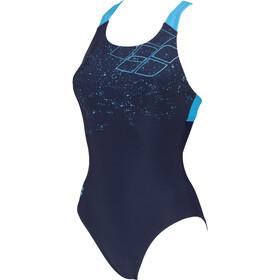 arena Lightning Swim Pro Back Costume Da Bagno Intero Donna, blu